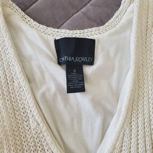 Cynthia Rowley Dresses - White knitted dress